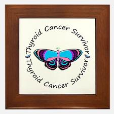 Butterfly Survivor 3 (Thyroid Cancer) Framed Tile