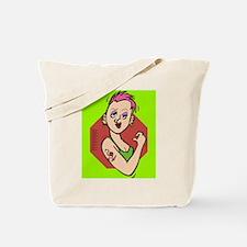 Tote Bag-urban chic tattoo girl