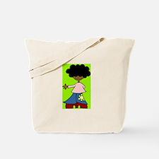 Tote Bag-urban chic retro girl