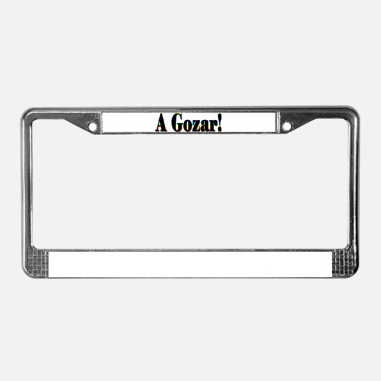 A Gozar! License Plate Frame