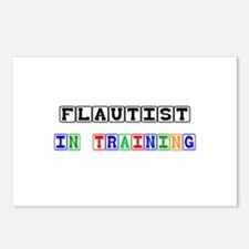 Flautist In Training Postcards (Package of 8)