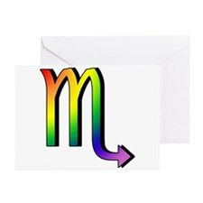 GLBT Scorpio Greeting Cards (Pk of 10)
