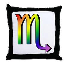 GLBT Scorpio Throw Pillow