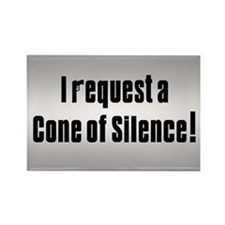 Cone of Silence Get Smart Rectangle Magnet