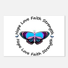 Butterfly Hope 3 (Thyroid Cancer) Postcards (Packa