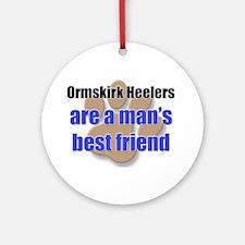 Ormskirk Heelers man's best friend Ornament (Round
