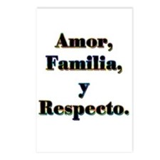 Amor, Familia, y Respecto. Postcards (Package of 8