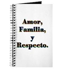 Amor, Familia, y Respecto. Journal