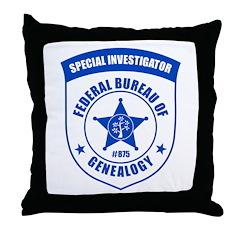 FBG Investigator Throw Pillow
