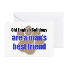 Old English Bulldogs man's best friend Greeting Ca