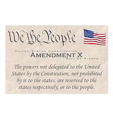 Amendment X w/Flag Postcards (Package of 8)