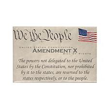 Amendment X w/Flag Rectangle Magnet