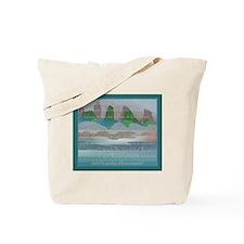 TIKI TOON's hawaiian Goddess Tote Bag w Back Logo