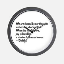 Buddhist Quote: Wall Clock