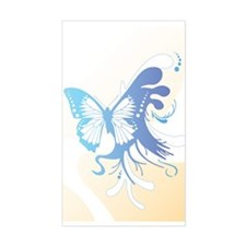 Sixties Butterfly Rectangle Decal