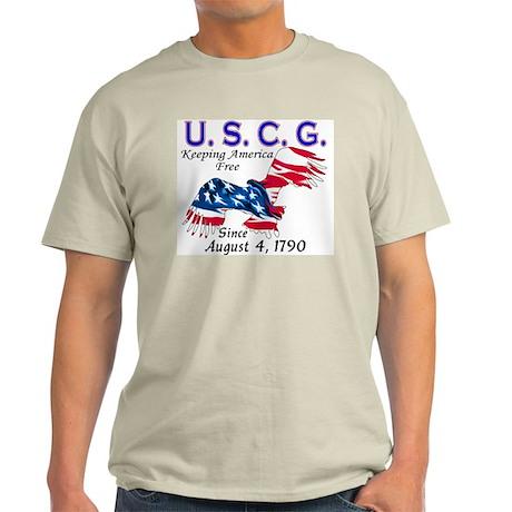 US Coast Guard Keeping Americ Ash Grey T-Shirt
