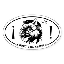 Obey the CAIRN! Oval Decal