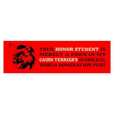 Cairn Terrier -Honor Student Bumper Sticker