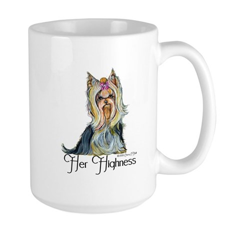 Yorkshire Terrier Her Highnes Large Mug