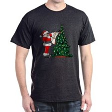 Cancer Awarenss ribbon Christmas Tree T-Shirt