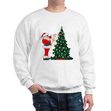 Cancer Awarenss ribbon Christmas Tree Sweatshirt