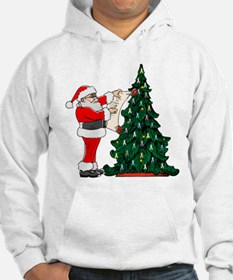 Cancer Awarenss ribbon Christmas Tree Hoodie