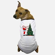 Cancer Awarenss ribbon Christmas Tree Dog T-Shirt