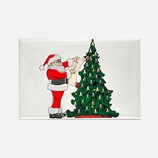 Cancer Awarenss ribbon Christmas Tree Rectangle Ma