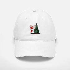 Cancer Awarenss ribbon Christmas Tree Baseball Baseball Cap