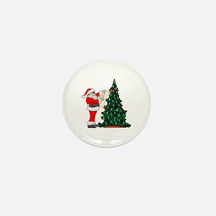 Cancer Awarenss ribbon Christmas Tree Mini Button