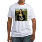 MonaLisa-AussieCattle Pup Fitted T-Shirt