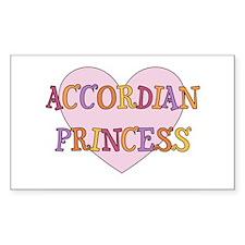 Princess Accordian Rectangle Decal