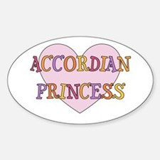 Princess Accordian Oval Decal