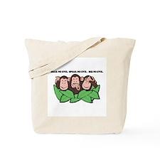 No Evil Monkeys Tote Bag