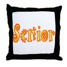 Stylish Senior Throw Pillow