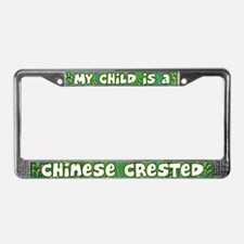 My Kid Chinese Crested License Plate Frame