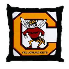 Colton High School Yogi Yellow Jacket Throw Pillow