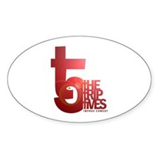 Trip Fives Oval Decal