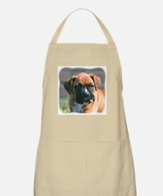 Boxer Pup with Stick BBQ Apron