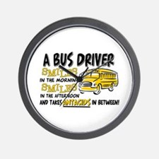 Bus Driver Antacids Wall Clock