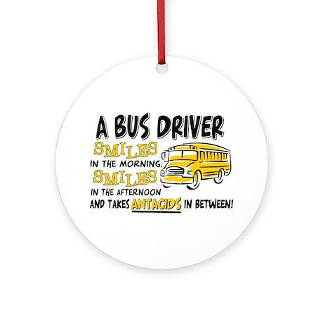 Bus Driver Antacids Ornament (Round)