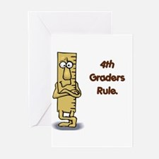 4th Graders Rule Greeting Cards (Pk of 20)