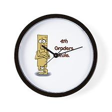 4th Graders Rule Wall Clock