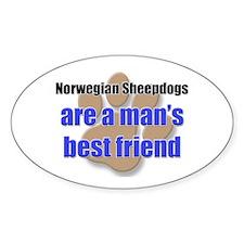 Norwegian Sheepdogs man's best friend Decal
