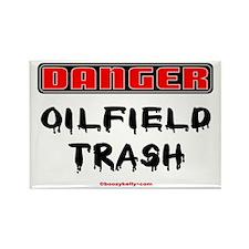 Danger Oilfield Trash Rectangle Magnet