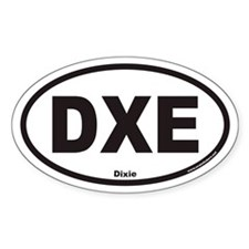 Dixie DXE Euro Oval Decal
