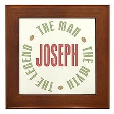 Joseph Man Myth Legend Framed Tile