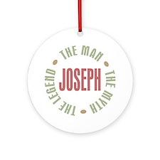Joseph Man Myth Legend Ornament (Round)