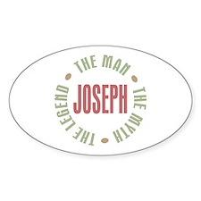 Joseph Man Myth Legend Oval Bumper Stickers