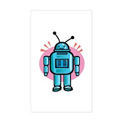 Retro Toy Robot Rectangle Decal
